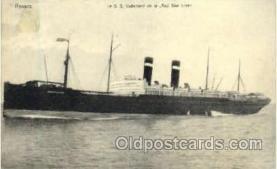 shi006033 - Le S.S. Vaderland de la, Red Star Line Postcard Postcards