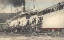 shi007146 - Coaling from The Ship at Nagasaki Harbour Ocean Liner, Ocean Liners, Oceanliner Ship Ships Postcard Postcards