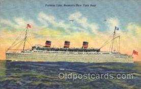 shi007178 - Furness Line Bermuda-New York Boat Ocean Liner, Ocean Liners, Oceanliner Ship Ships Postcard Postcards