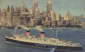 shi007197 - Cunard's mammoth Ocean Liner, Ocean Liners, Oceanliner Ship Ships Postcard Postcards