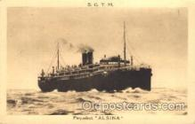shi007228 - Alsina Ocean Liner, Ocean Liners, Oceanliner Ship Ships Postcard Postcards