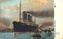 shi007261 - Kaiser Wilhelm II in Port, Harbor Scene, New York, USA Ocean Liner, Ocean Liners, Oceanliner Ship Ships Postcard Postcards