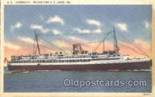 shi007324 - S.S. Yarmouth Ocean Liner, Ocean Liners, Oceanliner Ship Ships Postcard Postcards