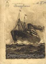 shi007329 - An bord des Dampfers Ship Shps, Ocean Liners,  Postcard Postcards