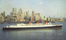 shi007332 - Cunard R.M.S. Queen Mary Ship Shps, Ocean Liners,  Postcard Postcards