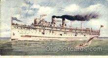 shi007338 - Chicago and Michigan City Line Ship Shps, Ocean Liners,  Postcard Postcards