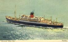 shi007348 - White Star Ship Shps, Ocean Liners,  Postcard Postcards