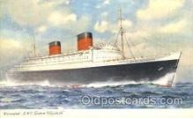 shi007353 - R.M.P. Queen Elizabeth Ship Shps, Ocean Liners,  Postcard Postcards