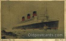 shi007354 - Cunard White Star Ship Shps, Ocean Liners,  Postcard Postcards
