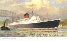shi007356 - Cunard R.M.P. Poxonia Ship Shps, Ocean Liners,  Postcard Postcards