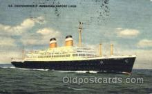 shi007384 - S.S. Independence American Export Lines Ship Shps, Ocean Liners,  Postcard Postcards