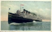 shi008072 - Str. City of Detroit III Steam Boat Steamer Ship Ships Postcard Postcards