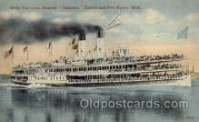 shi008077 - Tashmoo, Detroit and Port Huron, Mich. USA Steam Boat Steamer Ship Ships Postcard Postcards