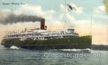 shi008083 - Western States Steam Boat Steamer Ship Ships Postcard Postcards