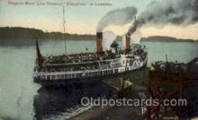 shi008091 - Niagara River Line, Chippewa Steam Boat Steamer Ship Ships Postcard Postcards