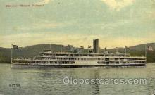 shi008093 - Robert Fulton on the Hudson River, New York, USA Steam Boat Steamer Ship Ships Postcard Postcards