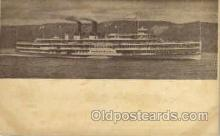 shi008099 - Hendrick Hudson on The Hudson River, New York, USA Steam Boat Steamer Ship Ships Postcard Postcards