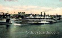 shi008102 - Hendick Hudson on The Hudson River, New York, USA Steam Boat Steamer Ship Ships Postcard Postcards
