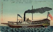 shi008105 - 1st Steamboat on Lake Champlaine, 2nd steamboat in the world, Steam Boat Steamer Ship Ships Postcard Postcards