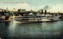 shi008120 - Hendrick Hudson on The Hudson River, New York, USA Steam Boat Steamer Ship Ships Postcard Postcards