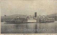 shi008124 - Robert Fulton on the Hudson River, New York, USA Steam Boat Steamer Ship Ships Postcard Postcards