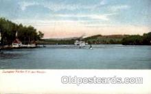 shi008131 - Sunapee Harbor, New Hampshire, USA, Ben Mere, Inn. Steam Boat Steamer Ship Ships Postcard Postcards