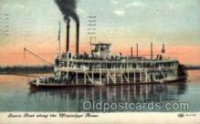 shi008142 - Mississippi River Steam Boat Steamer Ship Ships Postcard Postcards