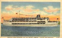 shi008144 - America's Finest Steamliner, SS Mount Vernon Steam Boat Steamer Ship Ships Postcard Postcards