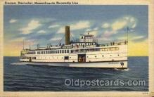 shi008145 - Nantucket, Massachusetts, Steamship Steam Boat Steamer Ship Ships Postcard Postcards