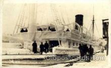 shi008154 - Real Photo, Northwestern, Juneau, Alaska, Jan 16, 1916, Steam Boat Steamer Ship Ships Postcard Postcards