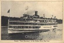 shi008158 - Peter Stuyvesant of the Hudson River New York, USA, Day Line Steam Boat Steamer Ship Ships Postcard Postcards