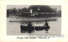 shi008164 - Cayuga Lake New York, USA, Steamer, Clara no.2 Steam Boat Ship Ships Postcard Postcards