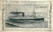 shi008165 - Clyde Steamship Co., S.S.Arapahoe Steam Boat Steamer Ship Ships Postcard Postcards