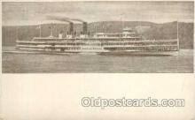 shi008168 - Hendrick Hudson on The Hudson River, New York, USA Steam Boat Steamer Ship Ships Postcard Postcards