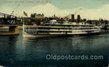 shi008169 - Hendrick Hudson on The Hudson River, New York, USA Steam Boat Steamer Ship Ships Postcard Postcards