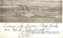 shi008184 - Hendrick Hudson on The Hudson River, New York, USA Steam Boat Steamer Ship Ships Postcard Postcards