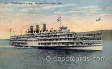shi008187 - Washington Irving, Hudson River Day Line,  Steam Boat Steamer Ship Ships Postcard Postcards