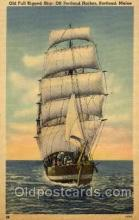 shi008192 - Old Full Rigged Ship, Off Portland Harbor, Portland, Maine, USA Steam Boat Steamer Ship Ships Postcard Postcards