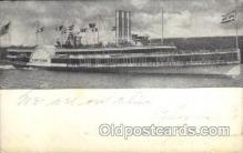 shi008200 - New York, Hudson River Day Line Steamer Ship Ships Postcard Postcards