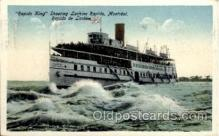 shi008205 - Rapid King, Shooting Lachine Rapids, Montreal Canada, Steamer Ship Ships Postcard Postcards