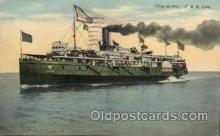 shi008208 - C. & B. Line, City of Erie,  Steamer Ship Ships Postcard Postcards