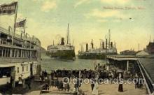 shi008209 - Harbor Scene, Detroit, Michigan, USA Steamer Ship Ships Postcard Postcards