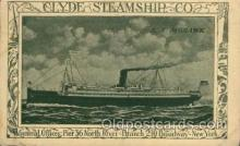 shi008215 - Clyde Steamship, Co. S.S. Mohawk, Steamer Ship Ships Postcard Postcards