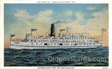 shi008219 - Colonial Navigation Co. Between New York and New England, Steamer Ship Ships Postcard Postcards