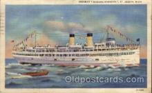 shi008224 - Steamer Theodore Roosevelt, St. Joseph, Michigan USA,  Ship Ships Postcard Postcards