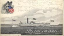 shi008239 - Steamer Vermont, Lake Champlain, New York USA, Ship Ships Postcard Postcards