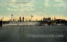 shi008242 - Hudson River Steamer at Albany New York, USA, Ship Ships Postcard Postcards
