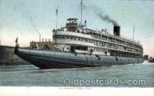 shi008255 - Whaleback, Chicago River, Steamer Ship Ships Postcard Postcards