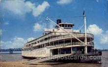 shi008292 - The Delta Queen, at Memphis Tennessee with Mississippi River Bridge in the background, Steamer Ship Ships Postcard Postcards