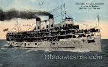 shi008294 - Theodore Roosevelt, Entering the Harbor, Michigan City, Indiana, USA Steamer Ship Ships Postcard Postcards